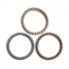 Bracelets de dentition Perle - Clary sage, tuscany, desert sand