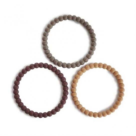 Bracelets de dentition Perle - Berry, marigold, khaki