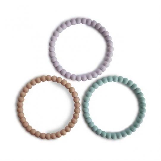 Bracelets de dentition Perle - Lilac, cyan, soft peach