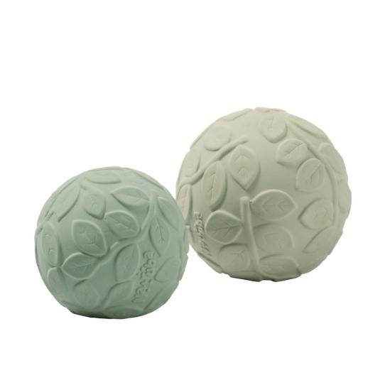 2 balles d'éveil en caoutchouc - Green