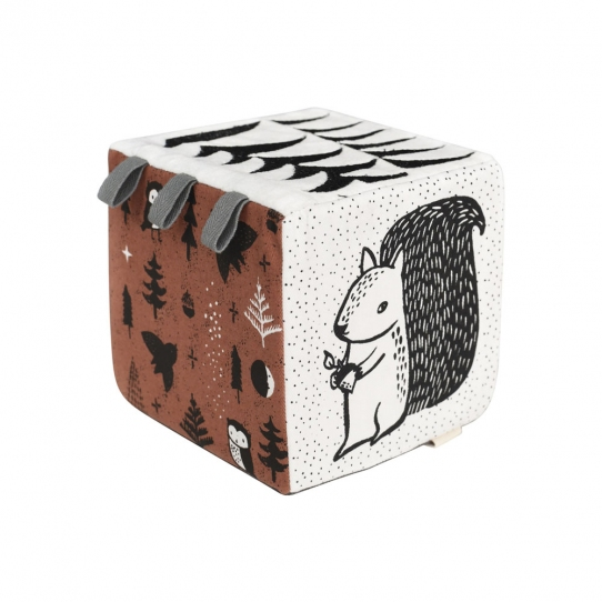 Cube en tissu - Woodland