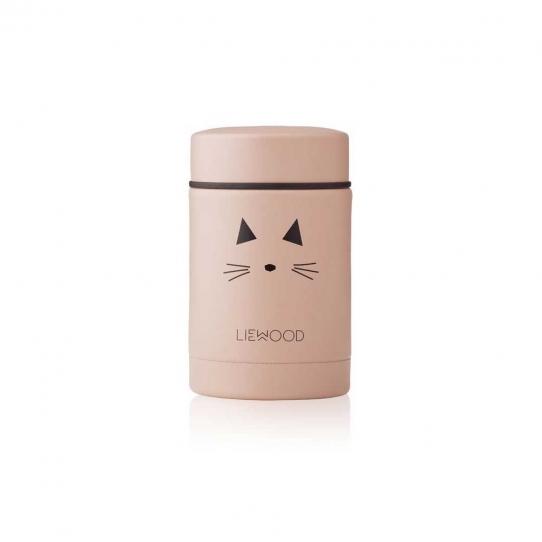 Boîte repas isotherme Nadja 250 ml | Cat rose