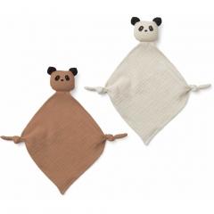 Mini Doudou Lange Yoko - Panda tuscany rose & sandy mix