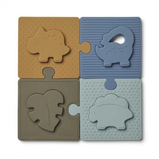 Puzzle Bodil - Dino blue