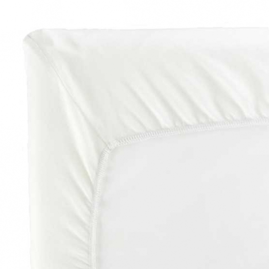 Drap housse pour lit de voyage - Blanc