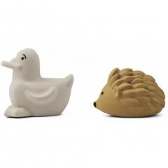 Jouet pour le bain Henrik x2 - Golden caramel & sandy